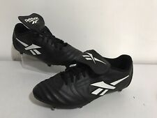 Vintage Reebok Football Boots Studded Shoes Black Uk Size 10