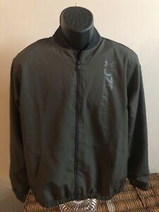 under armour jacket collared full zip mens medium— army green