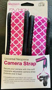 Macbeth Collection - Fashionation Universal Neoprene Camera Strap - Ava Hot Pink
