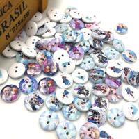 50/100pcs Mix Girl Wood Baby Kid's Sewing Button DIY Craft WB257