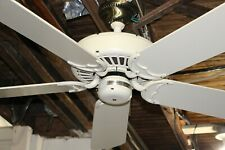"Restored Vintage Casablanca Delta II Antique White 50"" Ceiling Fan Made in USA"