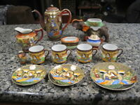 Vintage Satsuma Japan Japanese Miscellaneous Cups Saucers Teapot etc..   B3455