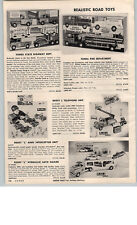 1959 PAPER AD Tonka Toy Trucks Fire Department Army Interceptor Missle Corps