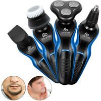 DS-9166 Rotary Rechargeable Washable Men's Cordless Electric Shaver Razor 3 in 1