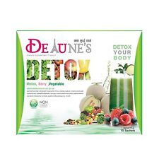 2 Box De Tune's Detox Supplement Melon Flavors Dietary Natural 10 Sachets