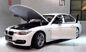 G LGB 1:24 Scala Bianco BMW 3 Serie 335i F30 24039 Very Dettagliato Welly Model