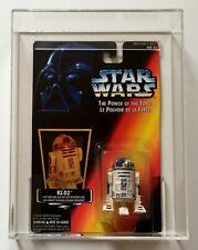 STAR WARS POTF 2 R2-D2 8 Back Canadian Card Kenner MOC 1995 AFA UKG 90% GOLD