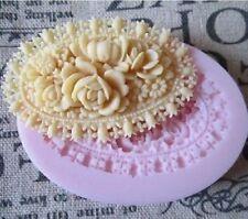 BPA Free Silicone Oval Rose Flowers Mold Chocolate Cake Decor Mould SugarCraft