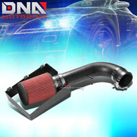 FOR 2009-2010 F150 5.4L V8 SILVER CRINKLE COAT COLD AIR INTAKE PIPE+HEAT SHIELD