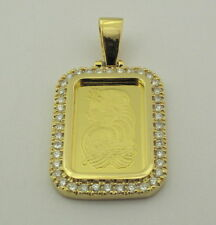 24KT 10GMS PURE YELLOW GOLD WITH 14KT STUDDED BORDER WITH 1.52 CARATS.