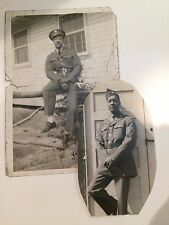 Black African American WW2 Photos  of US military Sergeant from S C 1940s