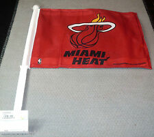 NBA NWT CAR WINDOW FLAG - MIAMI HEAT