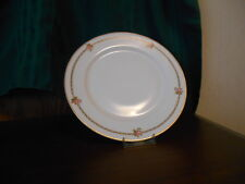 """Theodore Haviland china """"The Hanoi""""  LunchPlate Pink Rose Gold Band"""