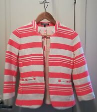 Ladies Tommy Hilfiger pink and beige stripe Jacket