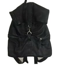 Free People Black Soft Leather Wren Backpack Hook Closure