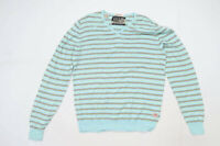 Scotch Apparel Mens Size XL Cotton Striped Green Jumper