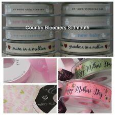 Ribbon - Wedding, Baby, Birthday, Mum, Easter, Love, Thanks, Poppies, Music