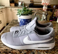 Nike SB Air Max Bruin Vapor TXT Men's Sz 11.5 Skate Shoes Wolf Grey White AA4257