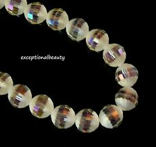 1 Strand Lampwork Glass Frosted Lemon Yellow with Roses 11-12mm Round Beads *