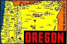 Vintage Travel Decal Replica Window Cling - Oregon