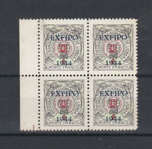 Portugal - Geographical Society Nice Block of 4 MNH 2