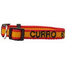 Collar para perros de Nylon Bandera de España. mascotas. placas