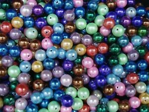 Magnetic Hematite Mix 8mm Round Beads 50pc Jewelry Necklace Spacer FREE POSTAGE