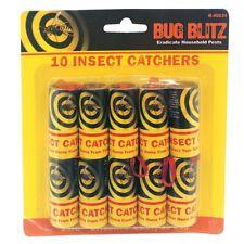 10 X Sticky Fly Bug Wasp De Insectos-Poison papel sin trampa cazadores de trampas