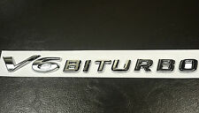 High Quality V6 Biturbo Badge Car Fender Side Sticker Emblem
