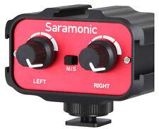 Saramonic SR-AX100 Audio Adapter  2 Channel  3.5mm Inputs DSLR Cameras -New