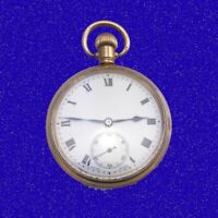 Mint WW1 10k Gold Tavannes Swiss 15 Jewel High Grade Officers Pocket Watch 1915