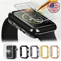 For Apple Watch Series 6 SE 5 4 Bumper Case +Full Glass Screen Protector 40 44mm