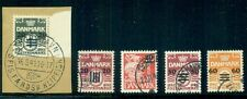 FAROE ISLANDS #2-6, Complete Ovpt set, used, VF, Scott $507.50