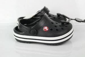 Crocs Kids' Toddler Crocband Slip On Clog Size c6 Black White