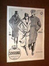 Pubblicità d'epoca dei primi del 900 Scarpe Calzaturificio di Varese - Sovrana