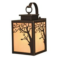 Alberta - One Light Outdoor Wall Lantern  Burnished Bronze Finish with Amber