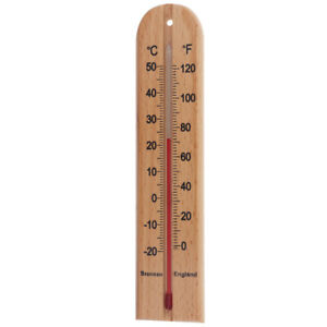 Brannan Wooden Wall Thermometer 205 mm - Beech Wood Thermometer - 14/432/3