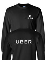 UBER Driver T-Shirt Front & Back Men's Tee Shirt Long Sleeve
