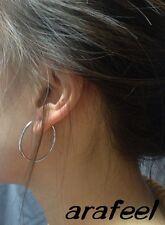 Fake Ring Lip Rock Earring 30mm Non-piercing Clip On Stud Ear Cuff Hoop arafeel