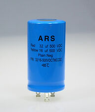 32uf+16uf-500vdc Marshall HiWatt__ARS Dual Blue Capacitor Replaces F&T JJ LCR