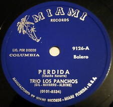 TRIO LOS PANCHOS Perdida LATIN 78 Miami Records