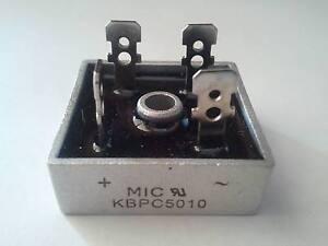 KBPC5010 50A 1000V Bridge Rectifier & Heat Sink Compound, USA Free Shipping!
