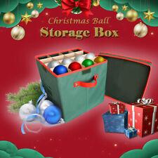 Xmas Christmas Tree 64 Bauble Ornament Decorations Holder Large Storage Box Cage