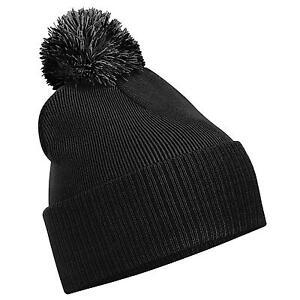 DeMina New BEECHFIELD Unisex Snostar Duo Winter Knit Beanie Bobble Hat 8 Colours