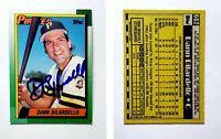 Dann Bilardello Signed 1990 Topps #682 Card Pittsburgh Pirates Auto Autograph