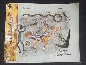NEW, DAVID HUDSON, ABORIGINAL ART AUSTRALIA, GANYAL-YABANI, PRINT ON FABRIC
