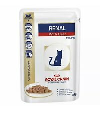 Royal Canin Renal Kidney Feline BEEF Cat Food 12 x 85g Boxed