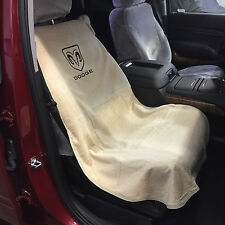 1994-2018 Dodge Ram 1500 Tan Seat Cover Seat Armour Towel Black RAMS HEAD NEW