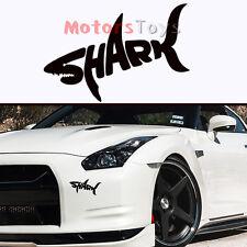 1PC JDM Black English Shark Hellaflush Fast Vinyl Motorcycle Car Sticker Decal
