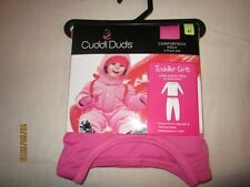 new 2 piece GIRLS CUDDL DUDS comfortech poly PINK cuffs POLYESTER warmth 4T